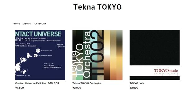 Tekna TOKYO web store OPEN !!!!