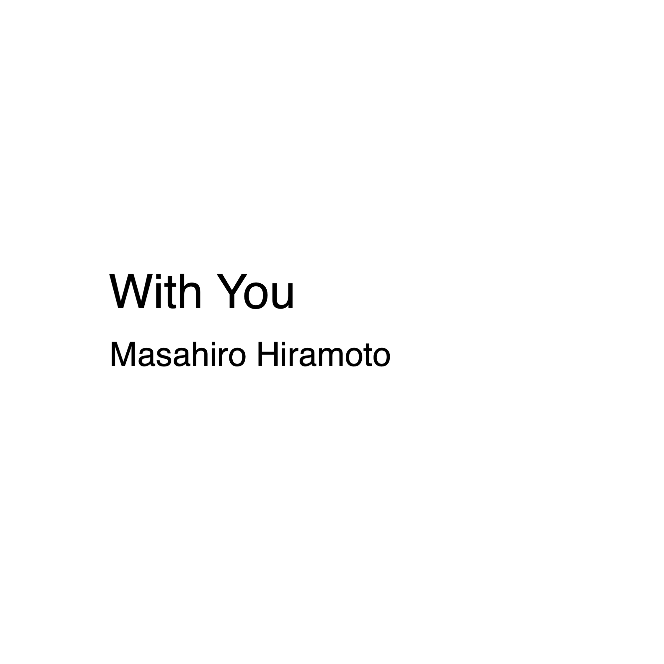 『With You』(TT011)本日リリース
